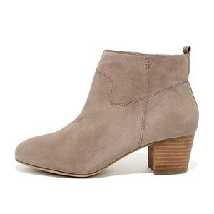 Steve Madden Harber Taupe Suede Ankle Booties